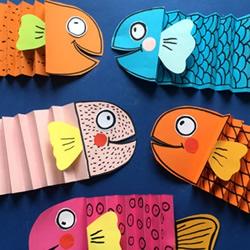 自制卡纸小鱼的做法 幼儿园手工纸鱼制作教程