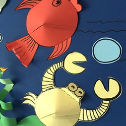 用卡纸做海洋生物 海底世界贴画手工制作教程