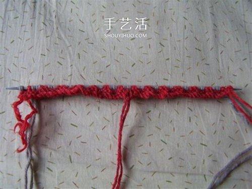 用棒針平針手工編織保暖拖鞋的方法圖解