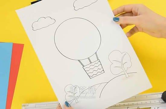 自制创意生日贺卡的方法 立体热气球卡片制作 手艺活网