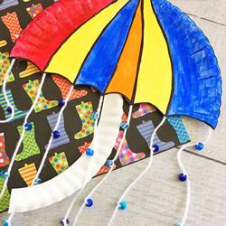 感谢为我遮风挡雨!母亲节雨伞风铃礼物制作
