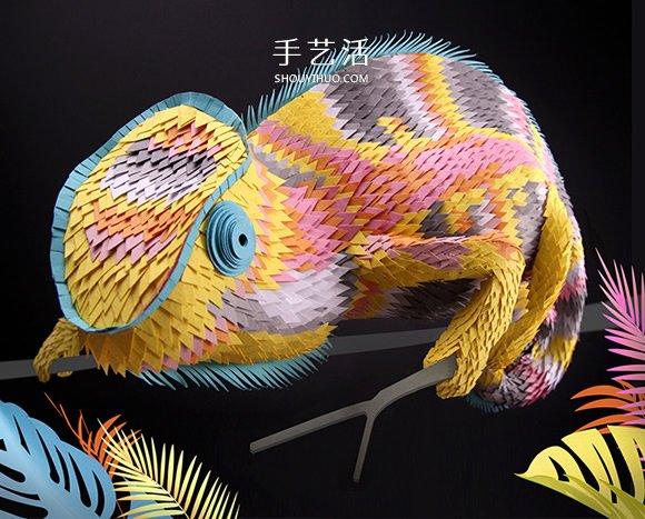 受迪士尼青睐!Lloyd 鲜艳、细腻的纸雕作品 -  www.shouyihuo.com