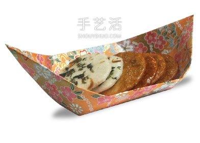 日式茶盤的簡單摺紙 幼兒手工小船的折法圖解