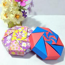 有特色八角礼盒折纸图解 就像设计有层层机关