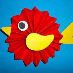 好玩小鸟手工制作 会做纸扇可以轻松搞定它!