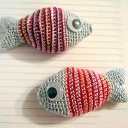 年年有余幸福年!钩针编织可爱小鱼的步骤图