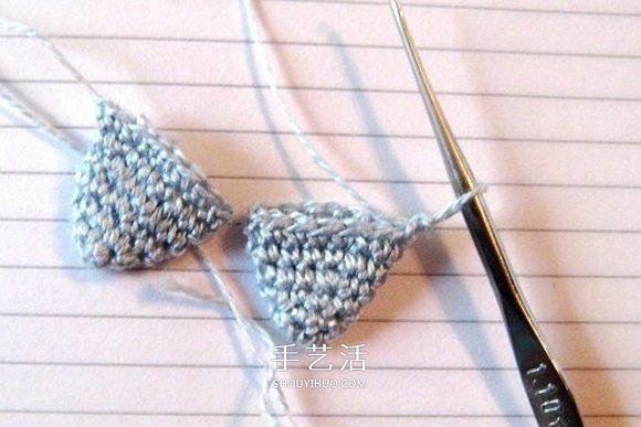 年年有餘幸福年!鉤針編織可愛小魚的步驟圖