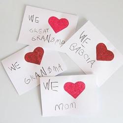 最简单的母亲节爱心卡片 小班孩子也能搞定!