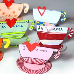 请辛苦的妈妈喝杯茶!母亲节创意贺卡制作方法