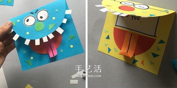 创意万圣节怪物卡片DIY 给好朋友一个小惊喜! -  www.shouyihuo.com