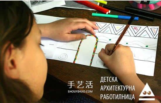 幼儿园手工小房子做法 自制圆形尖顶房子教程 -  www.shouyihuo.com