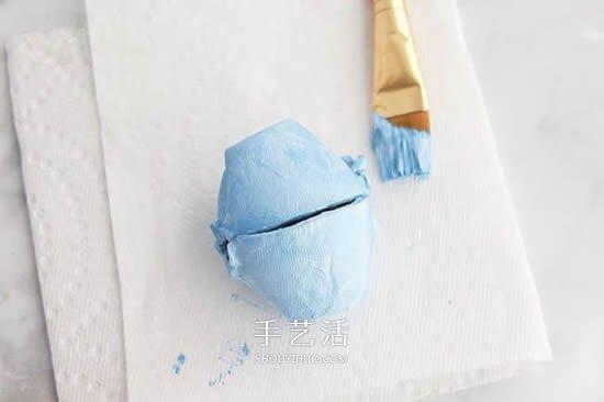 鸡蛋托环保小制作 做一个可爱的兔子收纳盒 -  www.shouyihuo.com