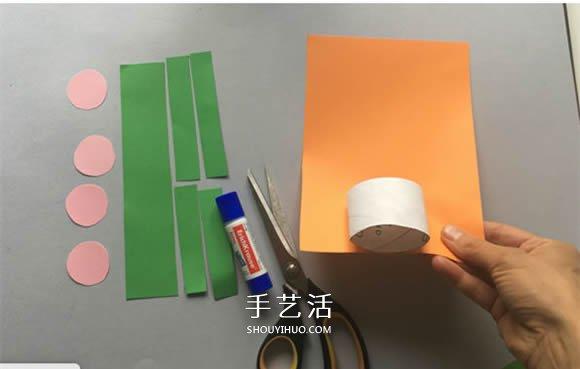 致敬顽强的仙人掌!用卷纸芯做仙人掌粘贴画 -  www.shouyihuo.com