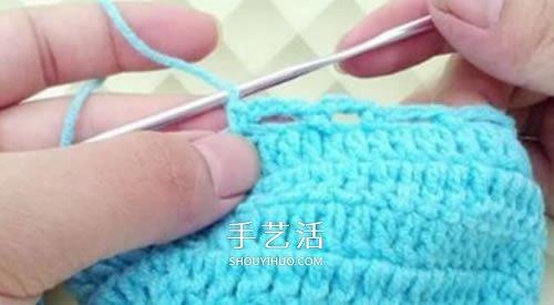 冬天看電視時保護腳 手工鉤針編織保暖襪教程