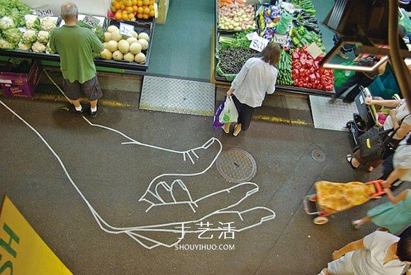 膠帶就是我的畫筆!用膠帶粘貼而成的街頭塗鴉