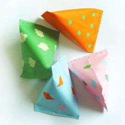 最简单端午节纸粽子的做法 还能当包装盒用!