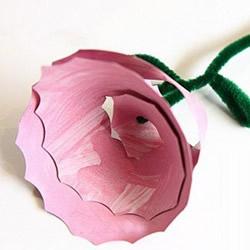 纸盘创意利用小制作 手工做立体玫瑰花图解
