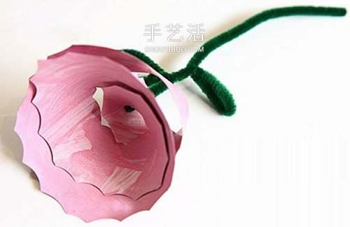【 廢物利用 】紙盤創意利用小製作 手工做立體玫瑰花圖解| 玫瑰花 | 廢物利用
