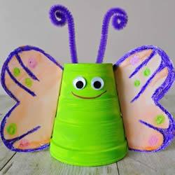 一次性纸杯制作蝴蝶的方法 胖乎乎真可爱!