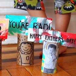 怎么做创意父亲节礼物?只要有卷纸筒就搞定!
