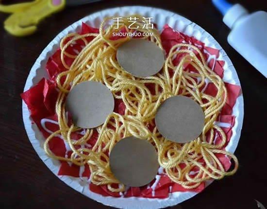 自己動手做意大利麵!兒童紙盤做麵條的小製作