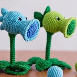 植物大战僵尸豌豆射手的手工钩针编织教程