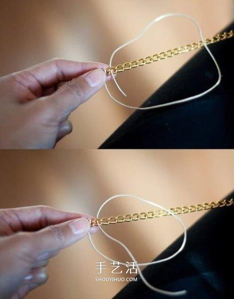 用繩子編織金屬鏈圖解 讓冷冰冰的飾品變柔美