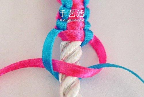 兒童糖果色手鏈的編織圖解 簡單卻又不失可愛