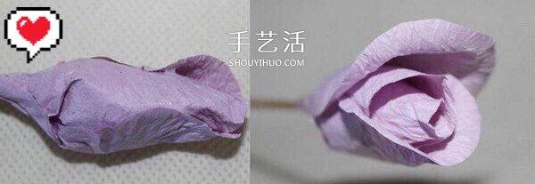 皱纹纸/旧包装纸做玫瑰花的方法 形态很逼真! -  www.shouyihuo.com