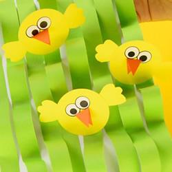 简单卡纸手工制作教程 超有趣的草丛中的小鸡
