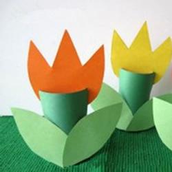 最简单的郁金香花手工制作 幼儿园小班也适合