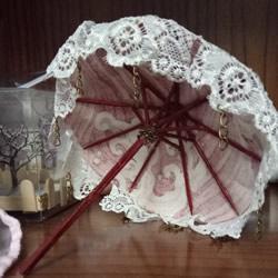 瞅瞅带你做:用一点点布和牙签给娃娃做小伞