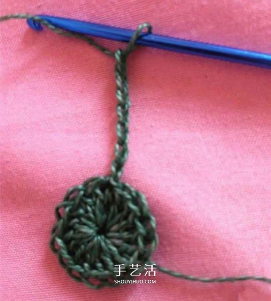 怎麼編織五角星的方法 鉤針編織小星星圖解