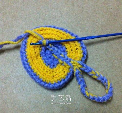 看着像一隻奶油桃子!可愛心形的鉤針編織圖解