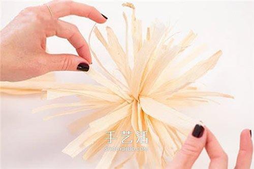 玉米葉花怎麼做的方法 簡單的玉米葉小製作