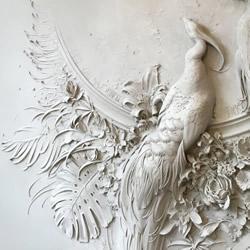 能把这面墙带回家吗?精致华丽的孔雀浮雕作品