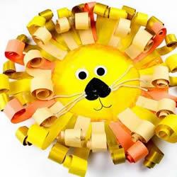 用一次性纸盘做狮子 幼儿园自制狮子的教程