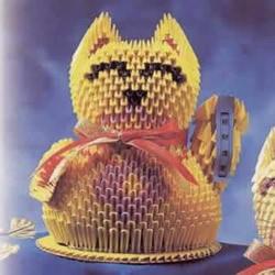 招财招福的吉祥物!三角插招财猫的做法图解