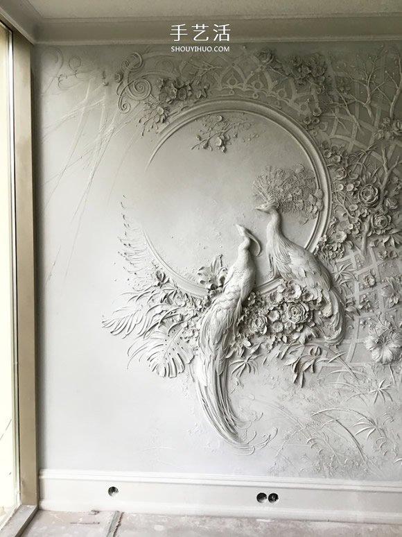 能把这面墙带回家吗?精致华丽的孔雀浮雕作品 -  www.shouyihuo.com