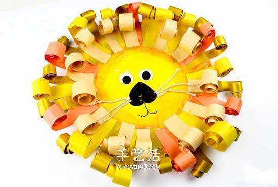 用一次性紙盤做獅子 幼兒園自製獅子的教程