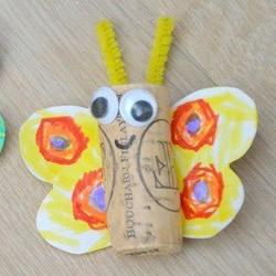 红酒瓶塞做蝴蝶 简单幼儿环保手工制作教程