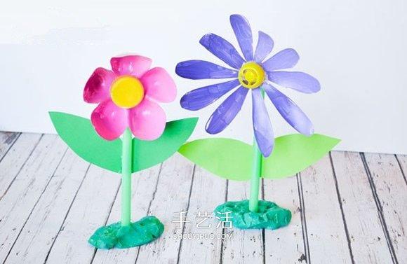 兒童飲料瓶廢物利用DIY 做可愛的塑料小花