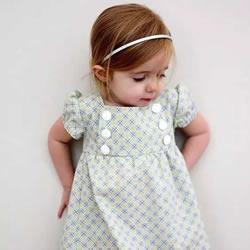 旧衣服布料改造再利用 给女儿做时尚小裙子