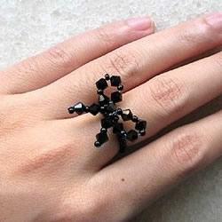 简单入门容易学!手工串珠蝴蝶戒指的做法