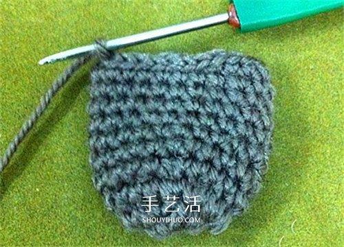 毛線猴頭的編織方法 手工鉤針編織猴子頭圖解