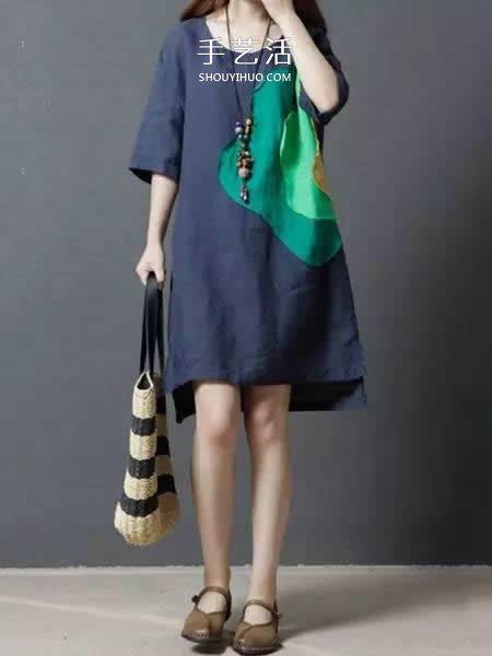 舊衣服布料改造再利用 給女兒做時尚小裙子