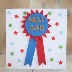 爸爸你是最棒的!创意父亲节奖牌贺卡手工制作