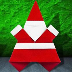 会跳舞的圣诞老人折纸图解 跟着一起跳起来!