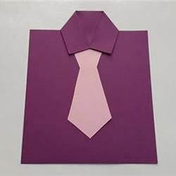 创意父亲节贺卡手工制作 卡纸做衬衫领带卡片