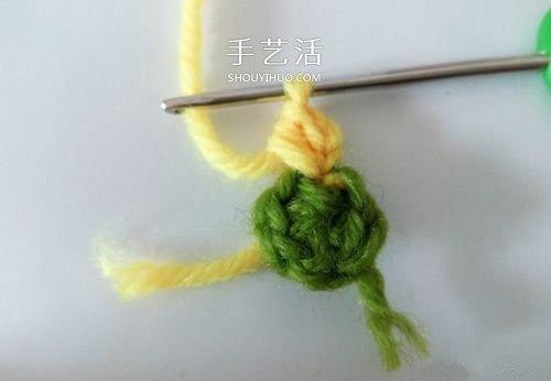 超可愛毛線小花的鉤法 鉤針編織六瓣花圖解